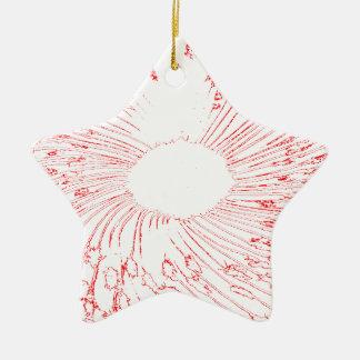 flor vermelha ornamento de cerâmica