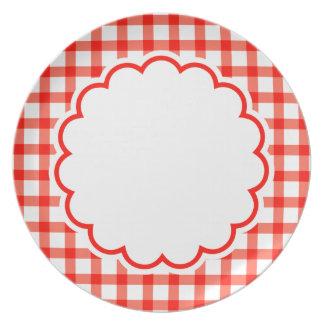Flor vermelha pratos