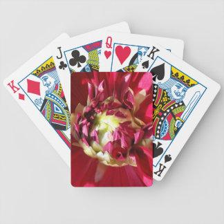 flor vermelho escuro baralhos de pôquer