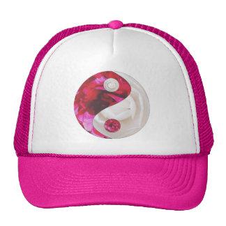 Flor Yin chapéu cor-de-rosa & branco de Yang Bones