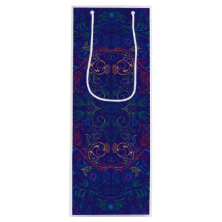 Floradore - azul sacola para vinho