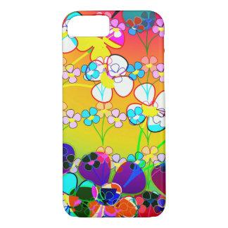 Floral abstrato vibrante bonito capa iPhone 8/ 7