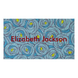 Floral azul cartão de visita