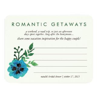 Floral azul do cartão | das ideias das férias do convite 10.79 x 13.97cm