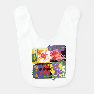 Floral - babador do bebê