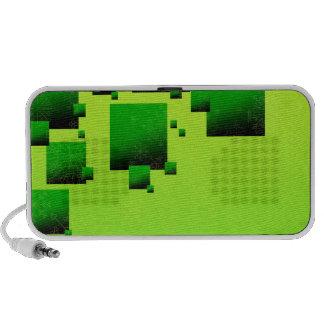 Floral bonito em quadrados esverdeados caixinhas de som para notebook