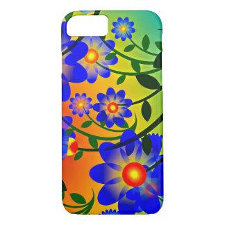 Floral brilhante e vibrante capa iPhone 8/ 7