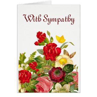 Floral. Com simpatia Cartão Comemorativo
