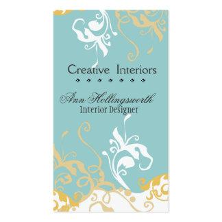 Floral criativo com flor do hemerocallis modelos cartões de visita