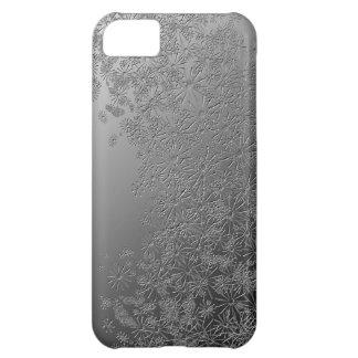 Floral. de prata capa para iPhone 5C