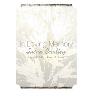 Floral elegante na cerimonia comemorativa Loving 2 Convite 12.7 X 17.78cm