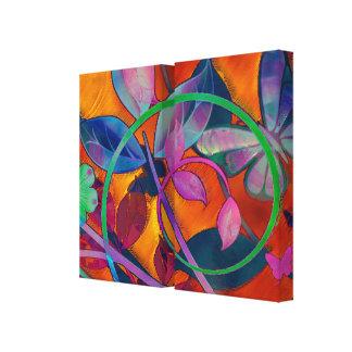 Floral extremo impressão em tela canvas