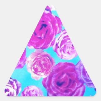 Floral feminino adesivo triangular
