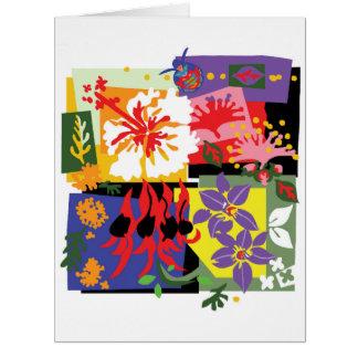 Floral - grande cartão