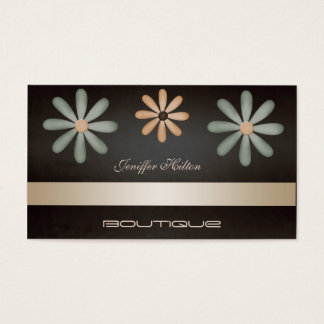 Floral luxuoso chique elegante profissional cartão de visitas