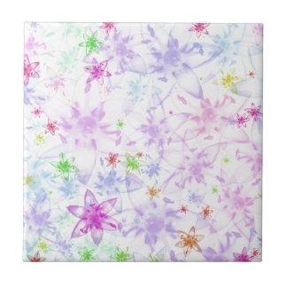 Floral macio azulejo quadrado pequeno