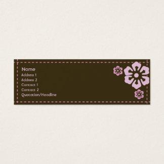Floral - magro cartão de visitas mini