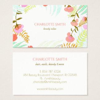 Floral moderno cartão de visitas