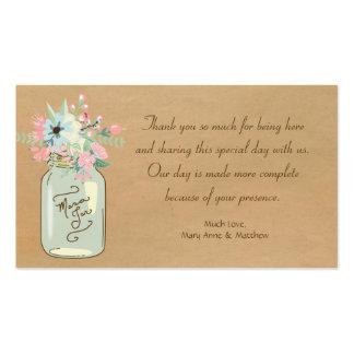 Floral moderno rústico do frasco de pedreiro do ol modelos cartão de visita
