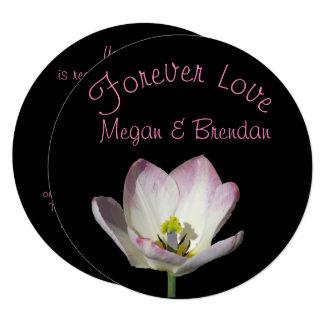 Floral no convite do casamento do amor