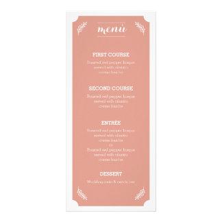 Floral&Peach Menù 10.16 X 22.86cm Panfleto