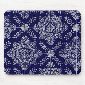 Floral português mouse pad