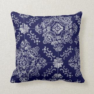 Floral português travesseiro de decoração