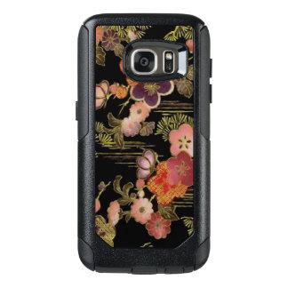Floral preto de Japão do vintage