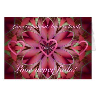 Floral romântico cartão comemorativo