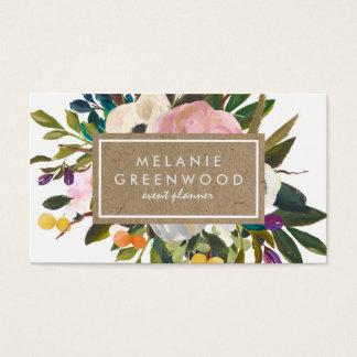 Floral rústico do vintage cartão de visitas