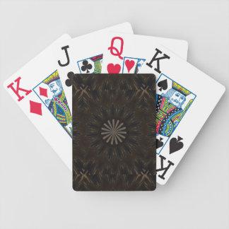 Floral rústico escuro de Brown do design do Baralhos Para Pôquer