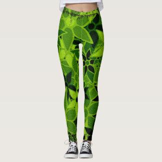 Floral verde leggings