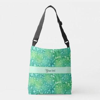 Floral verde retro bolsas carteiro