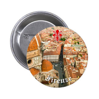 Florença, Italia (domo) Bóton Redondo 5.08cm