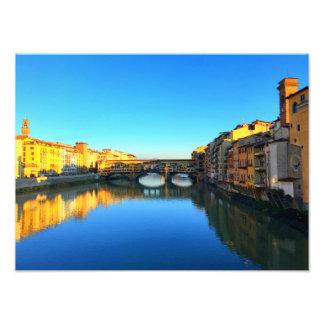 Florença, Italia - Ponte Vecchio Impressão De Foto