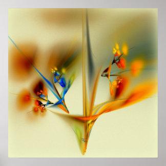 Flores abstratas poster