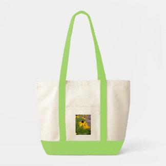 Flores amarelas bolsas para compras