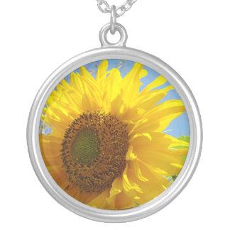 Flores amarelas da colar do girassol dos presentes