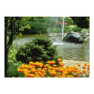 flores amarelas do jardim da tulipa convite personalizados