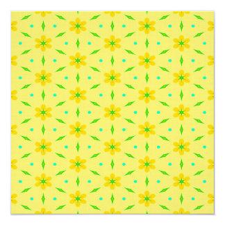 Flores amarelas que Crafting o papel Convite Quadrado 13.35 X 13.35cm