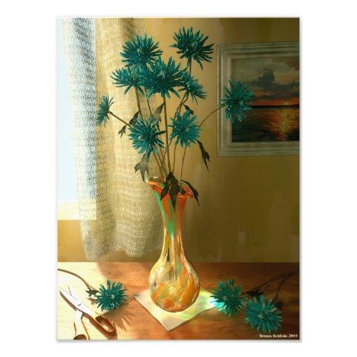 Flores azuis artes de fotos