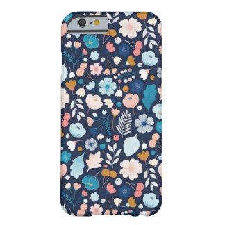 Flores azuis da capa de telefone das flores