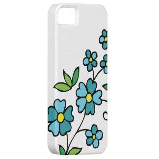 Flores azuis das capas de iphone 4 florais capa barely there para iPhone 5