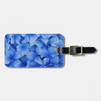 Flores azuis do Hydrangea Etiqueta De Bagagem
