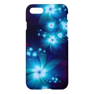 Flores azuis elegantes do Fractal Capa iPhone 8/7