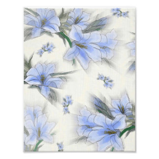 Flores azuis impressão de foto