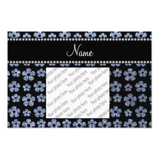 Flores azuis pastel conhecidas personalizadas do b foto arte