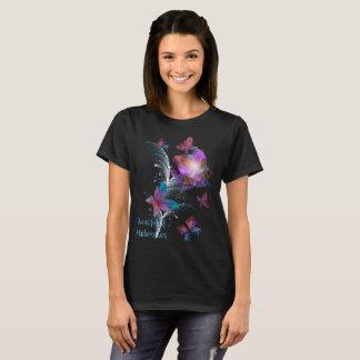 Flores & beleza dos borboleta-fractals camiseta