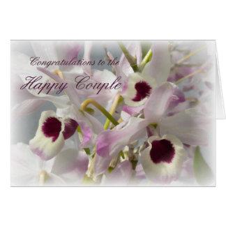 Flores bonitas das orquídeas que Wedding o cartão