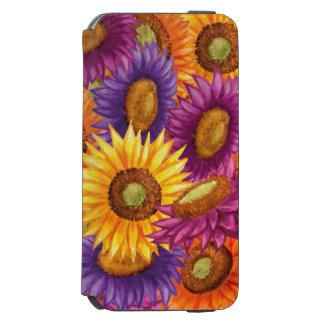 Flores bonitas de Sun Capa Carteira Incipio Watson™ Para iPhone 6